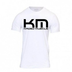 Gym Polo Kaged Muscle white